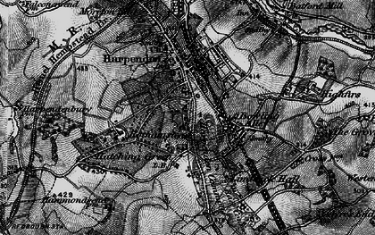 Old map of Harpenden Common in 1896