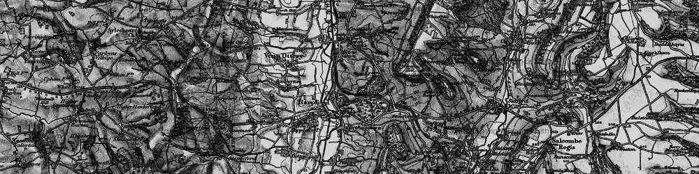 Old map of Harpford in 1897