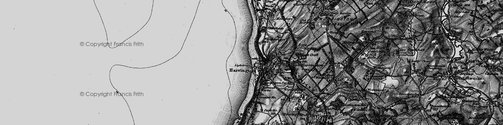 Old map of Harrington in 1897