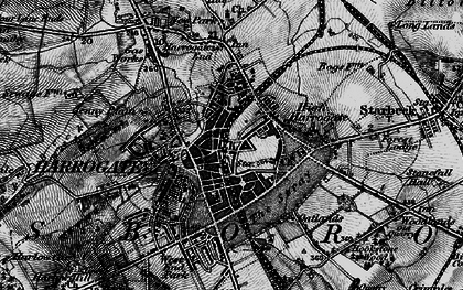 Old map of Harrogate in 1898