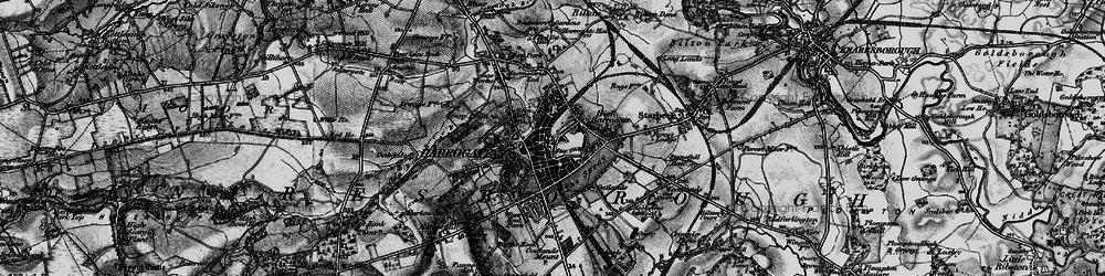 Old map of Harrogate in 1898