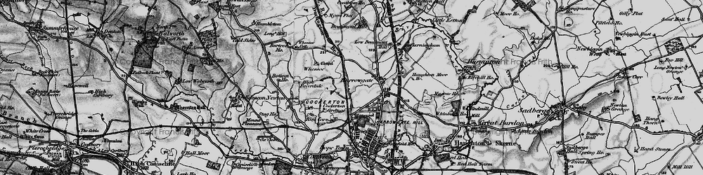 Old map of Whessoe Cott in 1897