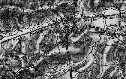 Old map of Hartfield in 1895