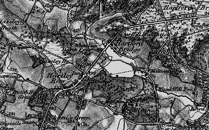 Old map of Elvetham Hall in 1895