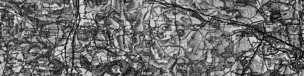 Old map of Woodall in 1896