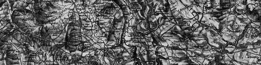 Old map of Hartington in 1897