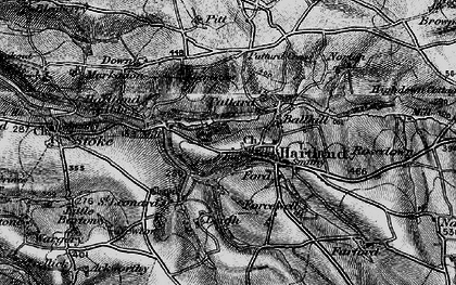 Old map of Hartland in 1896