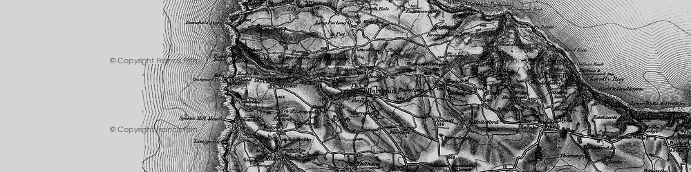 Old map of Abbey River in 1896