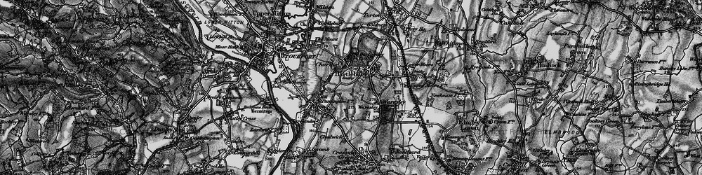 Old map of Hartlebury in 1898