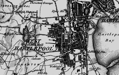 Old map of Hartlepool in 1898