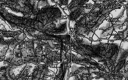 Old map of Badger's Oak in 1895