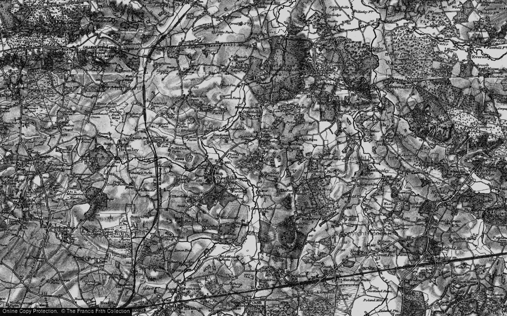 Old Map of Hartley Wespall, 1895 in 1895
