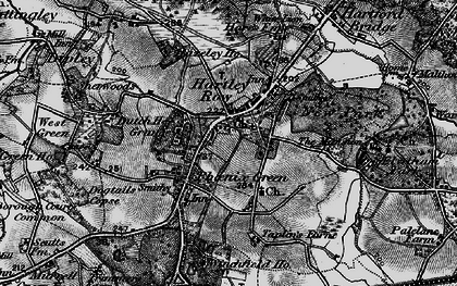 Old map of Winchfield Ho in 1895