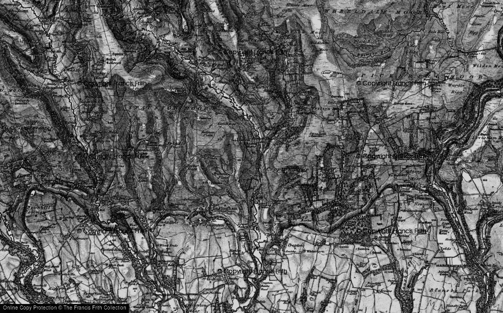 Old Map of Historic Map covering Abraham's Hut (Cairn) in 1898