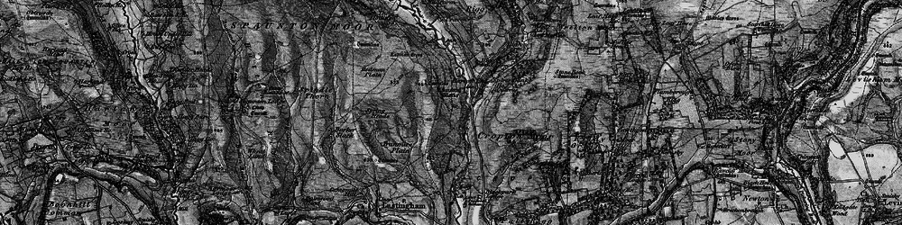 Old map of Abraham's Hut in 1898