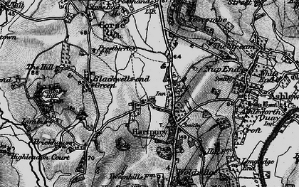 Old map of Hartpury in 1896