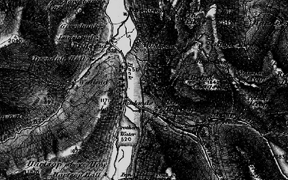 Old map of Lingy Crag in 1897