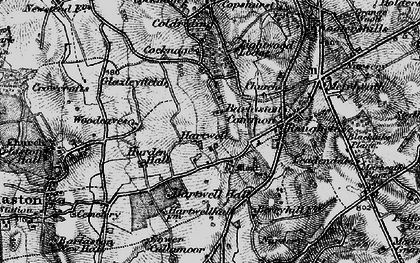 Old map of Woodeaves in 1897