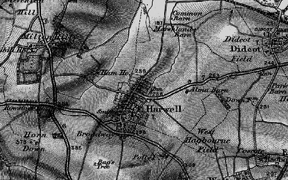 Old map of Harwell in 1895