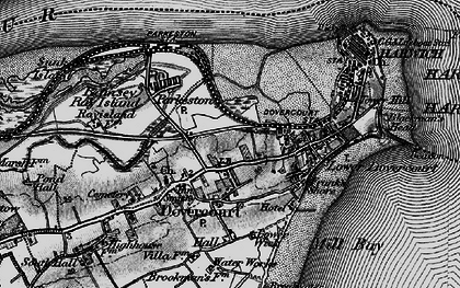 Old map of Harwich in 1896
