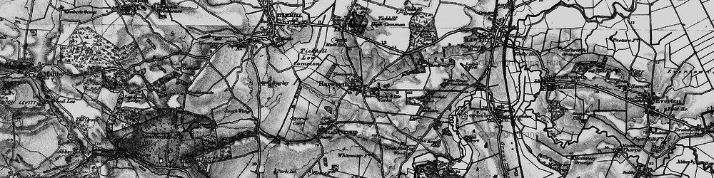 Old map of Harworth in 1895