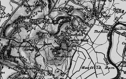 Old map of Tirley Court in 1896