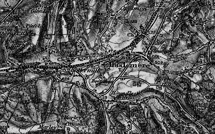 Old map of Haslemere in 1895