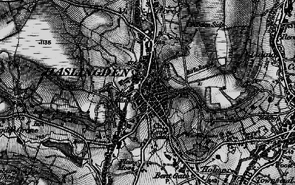 Old map of Haslingden in 1896