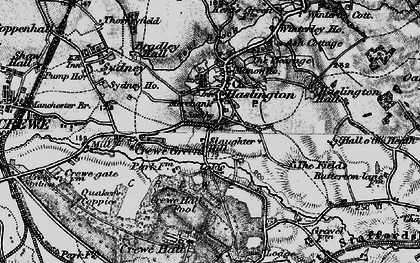 Old map of Haslington in 1897