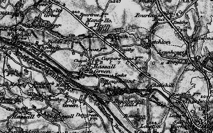 Old map of Hassall Green in 1897