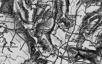 Old map of Wye Downs in 1895