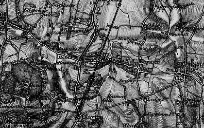 Old map of Hassocks in 1895
