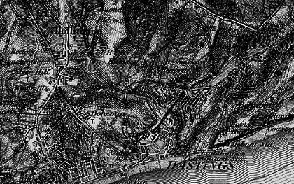 Old map of Hastings in 1895