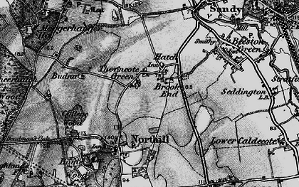 Old map of Hatch in 1896