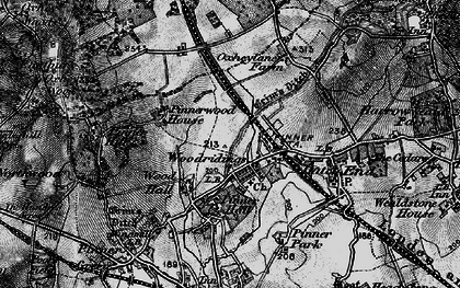 Old map of Hatch End in 1896