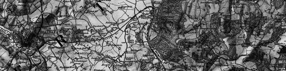 Old map of Hatfield in 1896