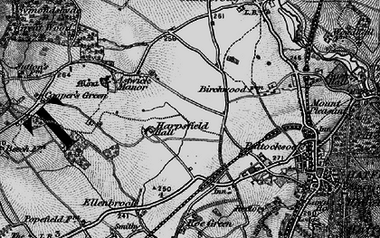 Old map of Hatfield Garden Village in 1896