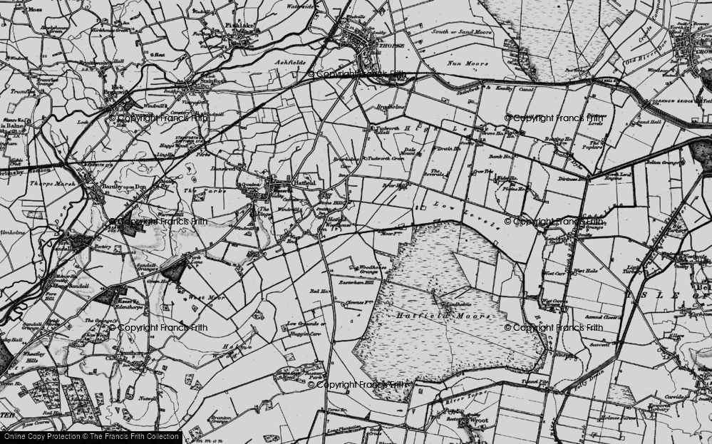 Old Map of Historic Map covering Lindholme Hall in 1895