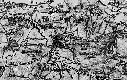 Old map of Hatherleigh in 1898