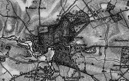 Old map of Akeman Street (Roman Road) in 1896