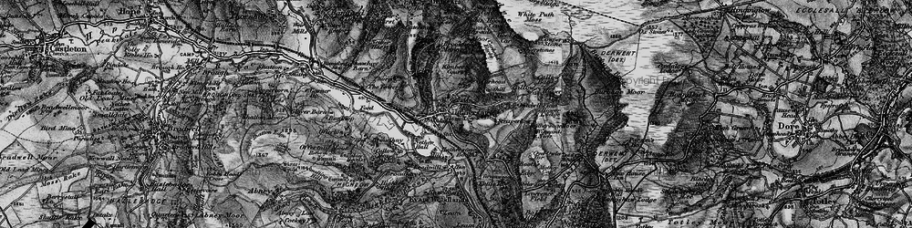 Old map of Hathersage in 1896