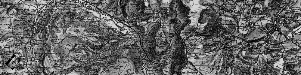 Old map of Winyards Nick in 1896