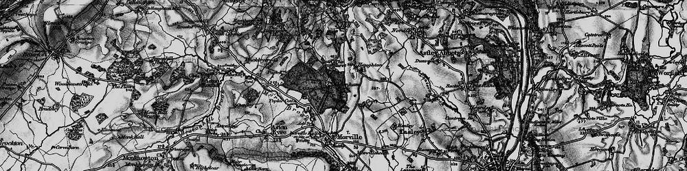 Old map of Aldenham Park in 1899
