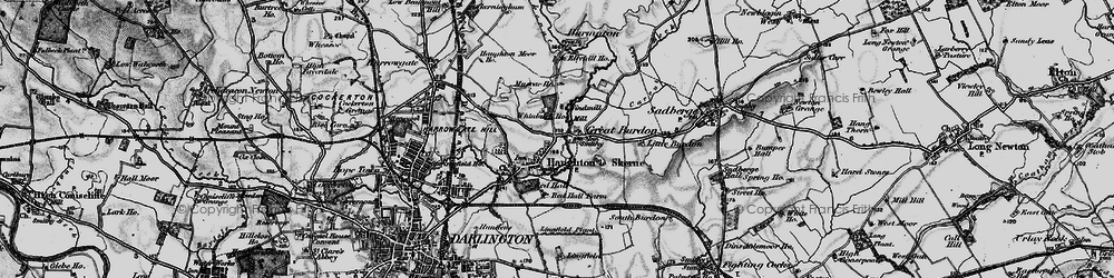 Old map of Haughton Le Skerne in 1898