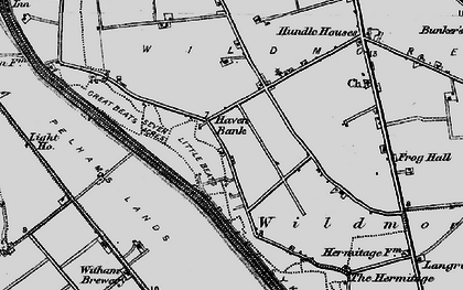 Old map of Witham Brewery in 1898