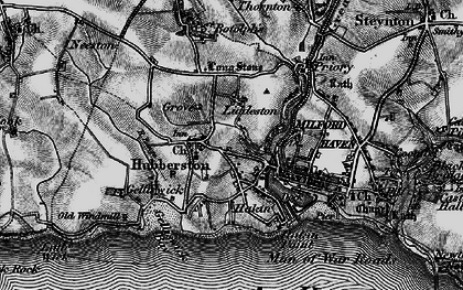 Old map of Havens Head in 1898
