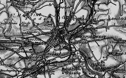 Old map of Haverfordwest in 1898