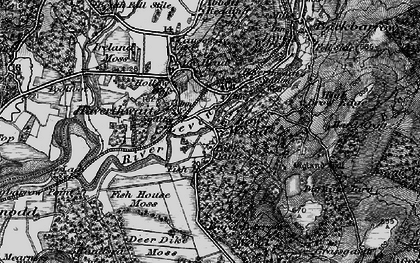 Old map of Haverthwaite in 1898
