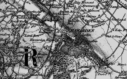 Old map of Hawarden in 1897