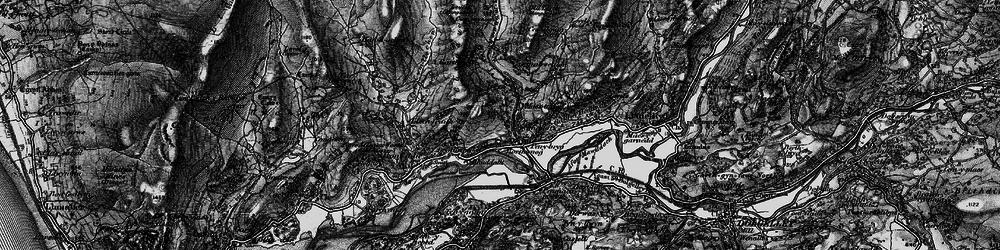 Old map of Afon Cwm-llechen in 1899
